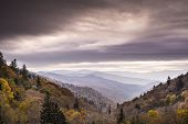 picture of gatlinburg  - Autumn morning in the Smoky Mountains National Park - JPG