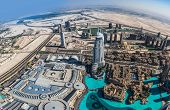 Dubai Downtown. East, United Arab Emirates Architecture. Aerial View