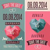 stock photo of cupid  - Romantic retro style invitation - JPG