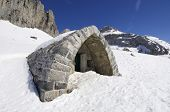 small mountain refuge in the valley of Lizara, Pyrenees, Huesca, Aragon, Spain