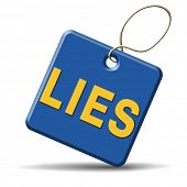stock photo of tell lies  - lies breaking promise break promises cheating and deception  - JPG