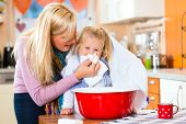 pic of vapor  - Mother care for sick child with vapor - JPG
