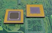 stock photo of processor socket  - the close up of cpu processors  - JPG