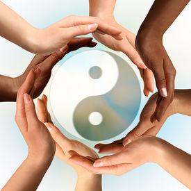 stock photo of taoism  - Conceptual yin - JPG