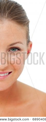 Portrait Of Woman After Having A Spa Treatment