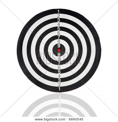 Dartboard With Black And White Circles