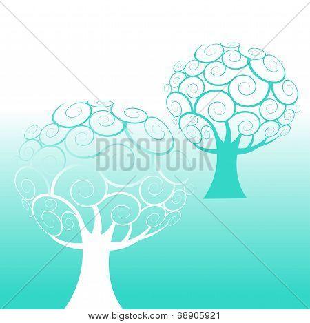 Swirl tree background