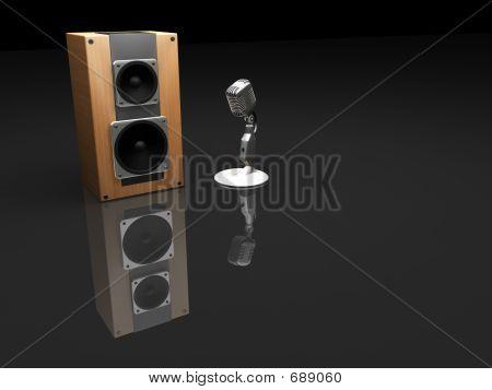 Microfone e alto-falante