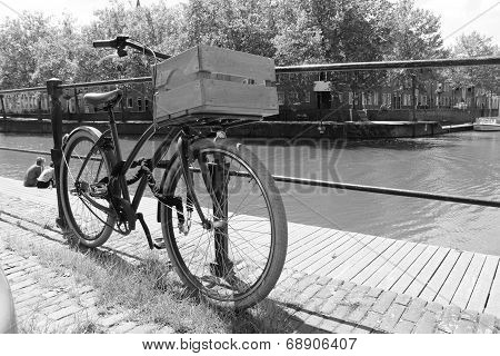 bicycle along canal