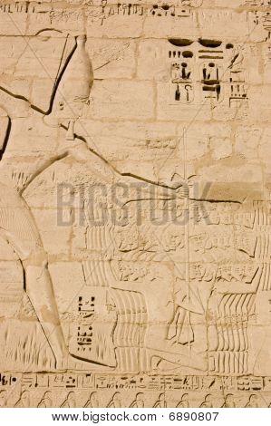 Pharao Ramses Schlachtung Feinde