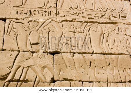 Hieróglifos escravos Egito