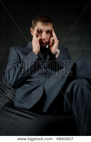 Thinking Businessman