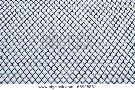Frozen Small Chain-link Fence Pattern.