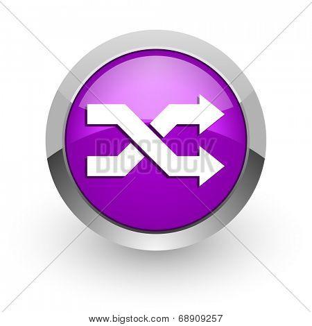 aleatory pink glossy web icon