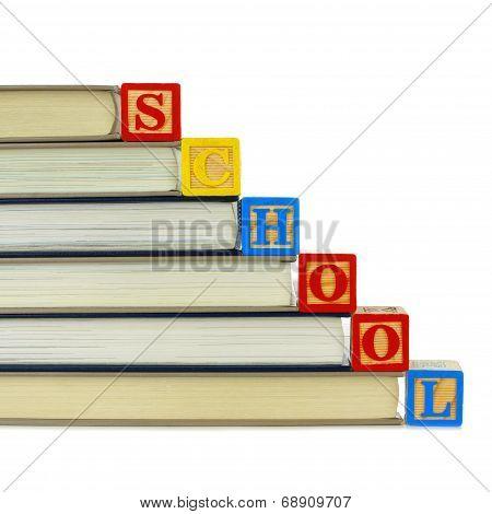 Books and SCHOOL blocks