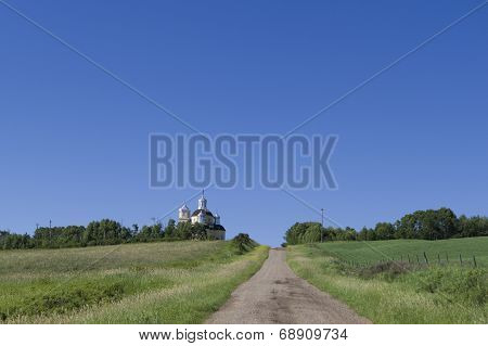 Country Church on a Hill