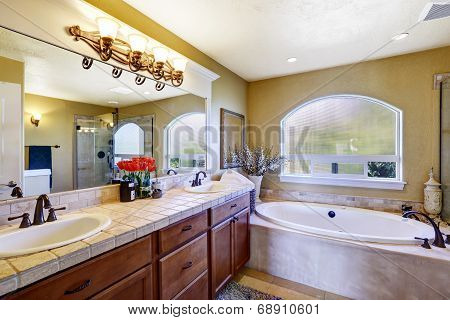 Cozy Bathroom In Luxury House