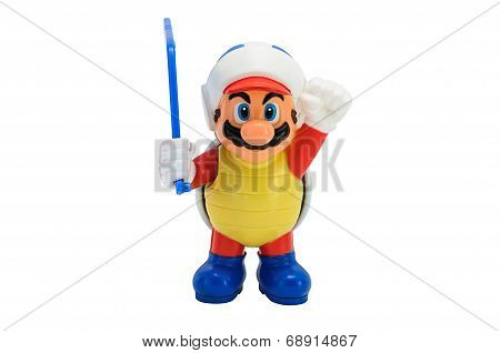 Sumer Mario Hold A Boomerang