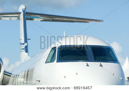 White Corporate Jet