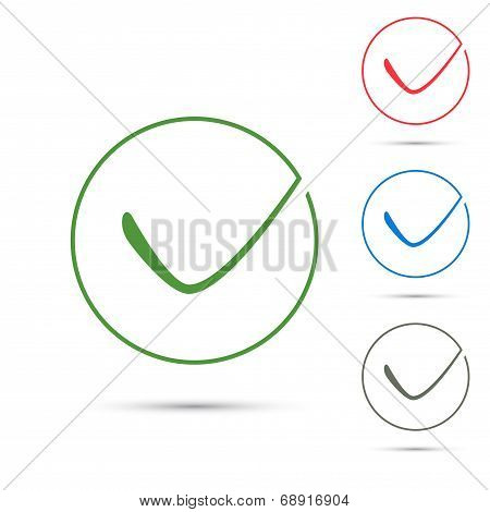 Positive Green Checkmark Symbol Template