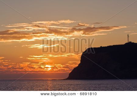 Sunset View Of Point Loma Near San Diego, California