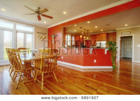 Dining Room And Kitchen Interior
