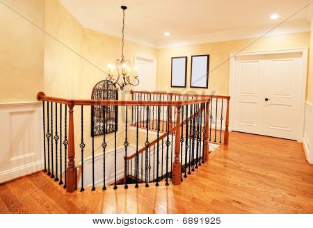 Upper Hallway And Staircase In Upscale Home
