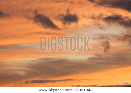 Beautiful Mysterious Sky With Cloud Coverage