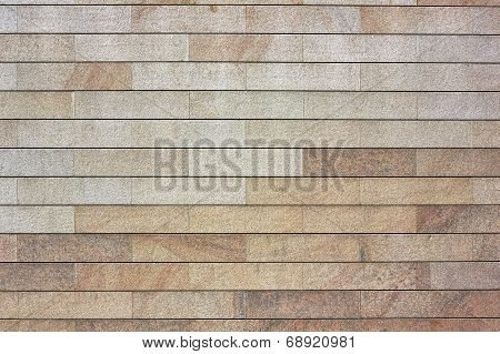 Wall From Granite Blocks