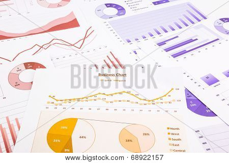 Business Charts, Data Analysis, Marketing Report And Educational Research