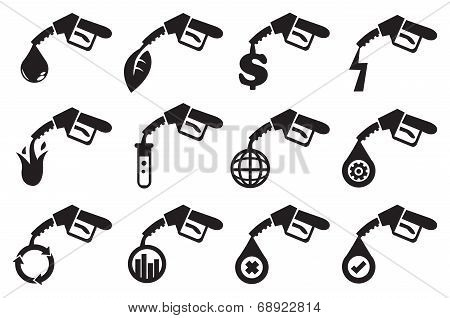 Petrol Pump Vector Icons