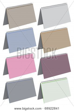 Blank Spiral Bound Note Pads Vector