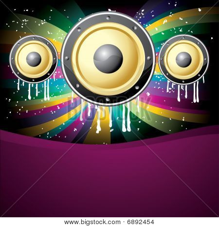 cool music colorful disco background