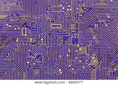 Purple Industrial Circuit Board Backdrop