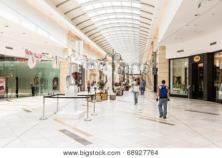 People Shopping In Luxury Shopping Mall