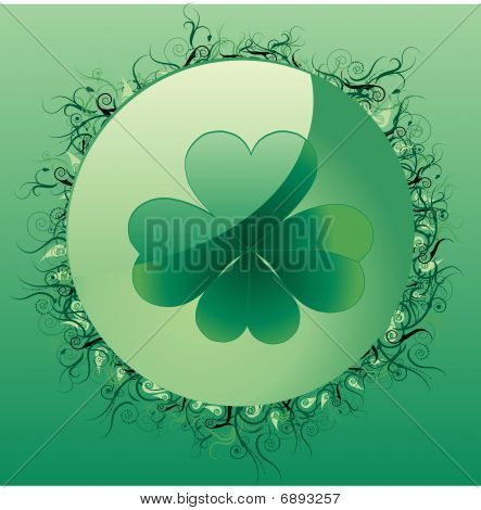Glass clover button