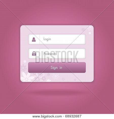 Vector login form