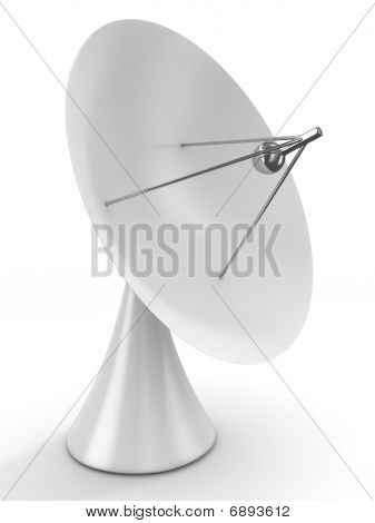 Satellite Aerial On White Background. Isolated 3D Image