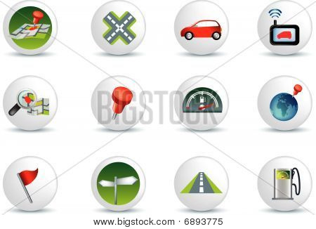 Navigate And Travel White Button
