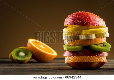 Burger With Fruit