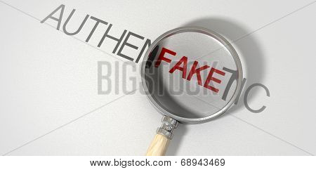 Counterfeit Authentic Magnified