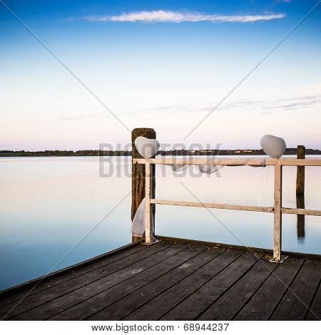 Landing Stage With Balloons