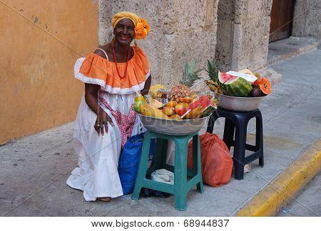 Fruit Seller in Cartagena