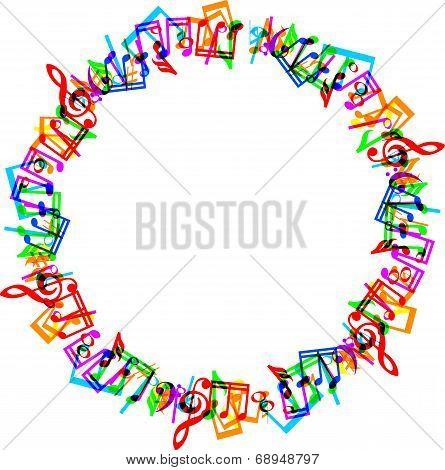 music notes border frame