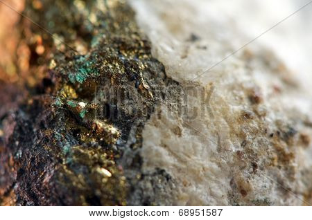 Golden Background, Rather Unique Macro Photo A Rare Nugget, For Your Bright Golden Successful Busine