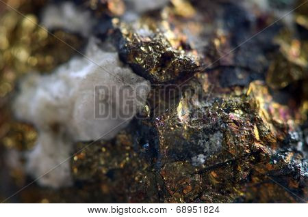 Golden Background, Rather Unique Macro Photo A Rare Nugget, For Your Golden Successful Business Desi