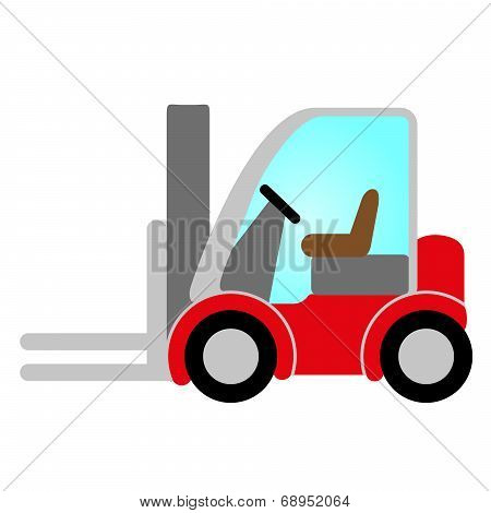 Red Forklift Truck
