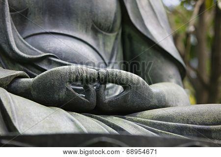Japan, Tokyo Senso-ji, Buddha hands, close-up