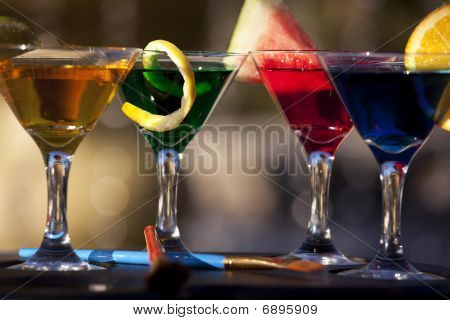 Colorful Martinis