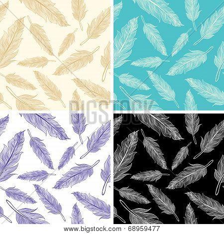 Seamless Feather Pattern